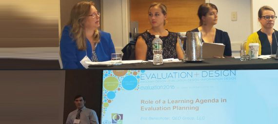 QED's Monitoring, Evaluation, and Learning Team Presents at 2016 American Evaluation Association Conference